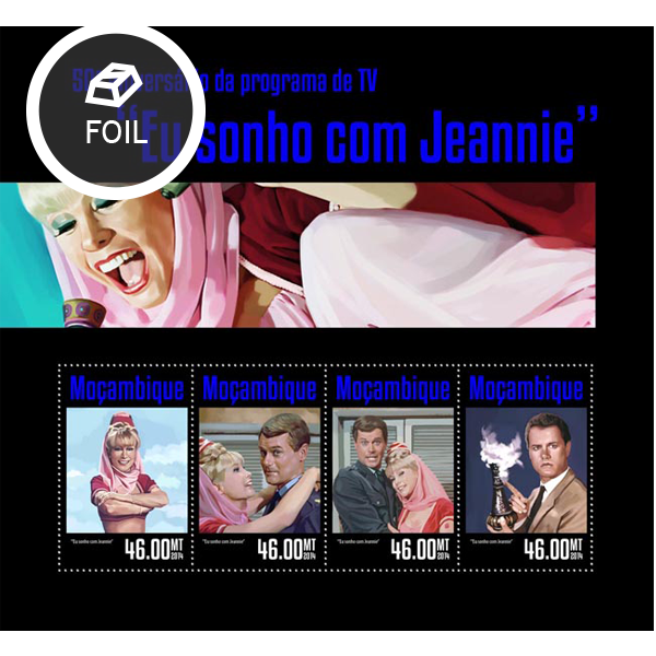 I dream of Jeannie - Issue of Mozambique postage Stamps