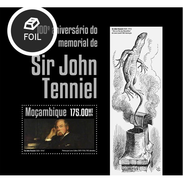John Tenniel - Issue of Mozambique postage Stamps