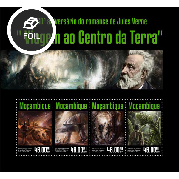 Jules Verne - Issue of Mozambique postage Stamps