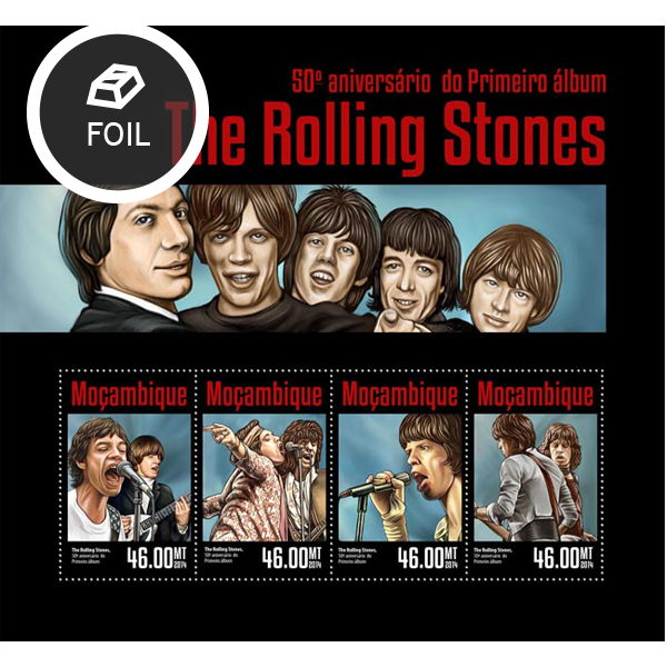 Rolling Stones  - Issue of Mozambique postage Stamps