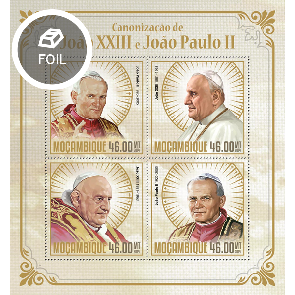 Canonisation of John Paul II - Issue of Mozambique postage Stamps