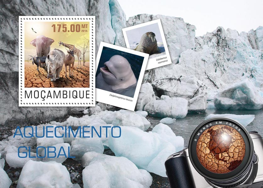 Climate change - Issue of Mozambique postage Stamps