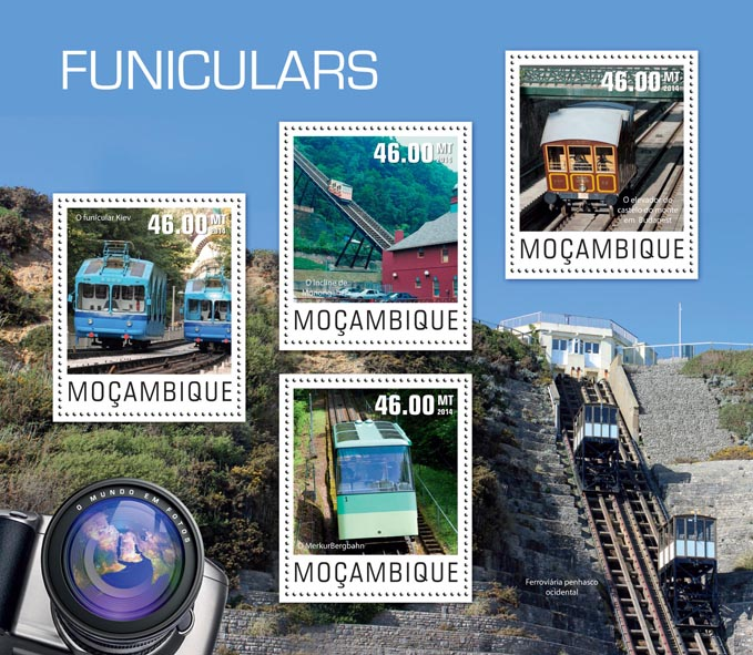 Funiculars - Issue of Mozambique postage Stamps
