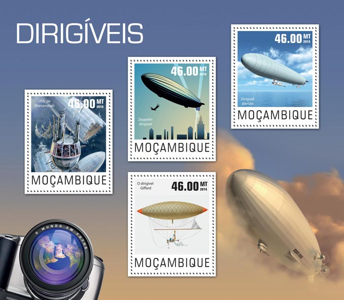 Dirigibles - Issue of Mozambique postage Stamps