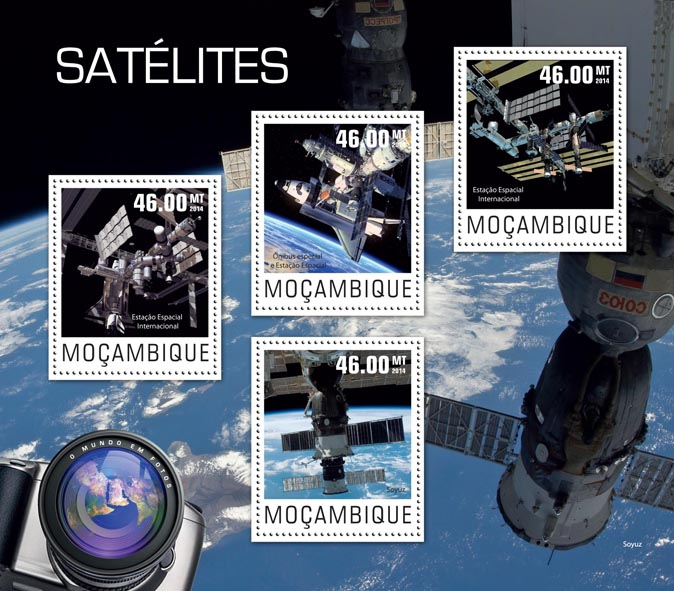 Satellites - Issue of Mozambique postage Stamps