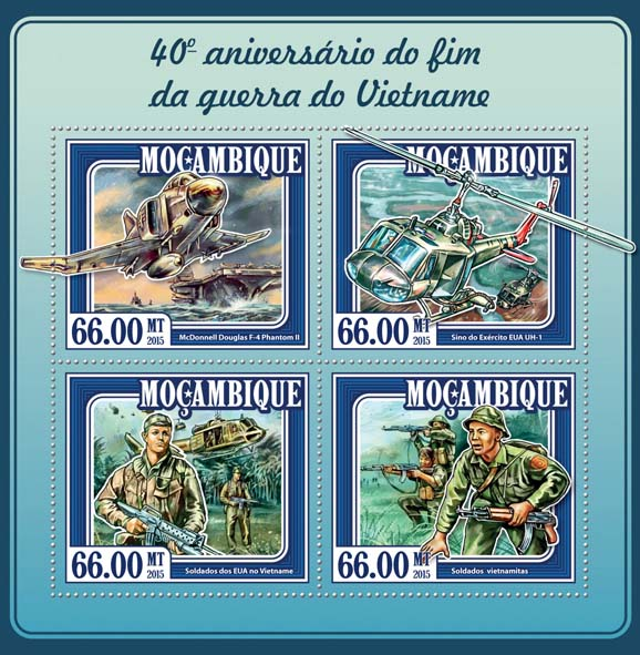 Vietnam war - Issue of Mozambique postage Stamps