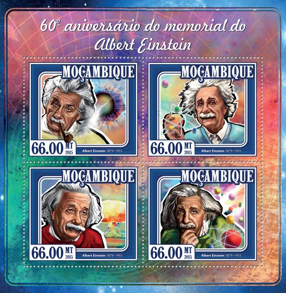 Albert Einstein - Issue of Mozambique postage Stamps