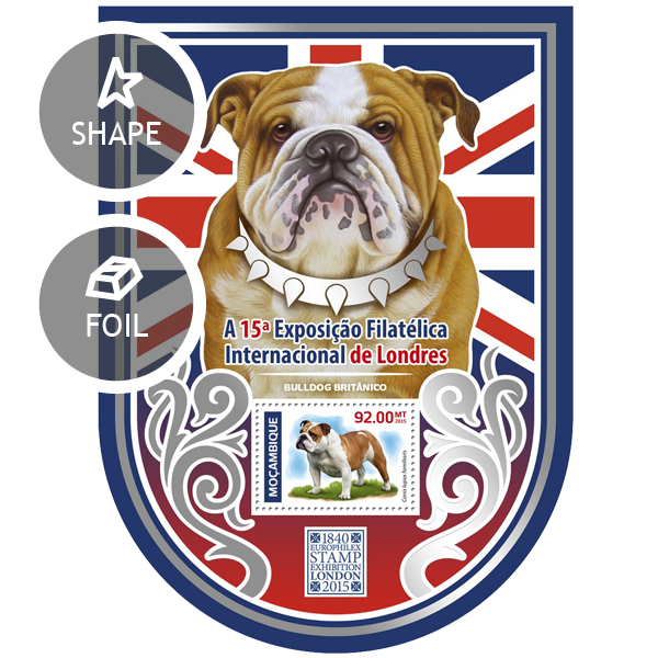 British Bulldog - Issue of Mozambique postage Stamps