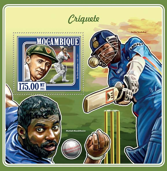 Cricket - Issue of Mozambique postage Stamps