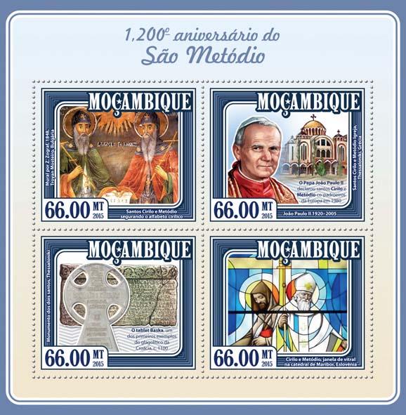 Saint Methodius - Issue of Mozambique postage Stamps