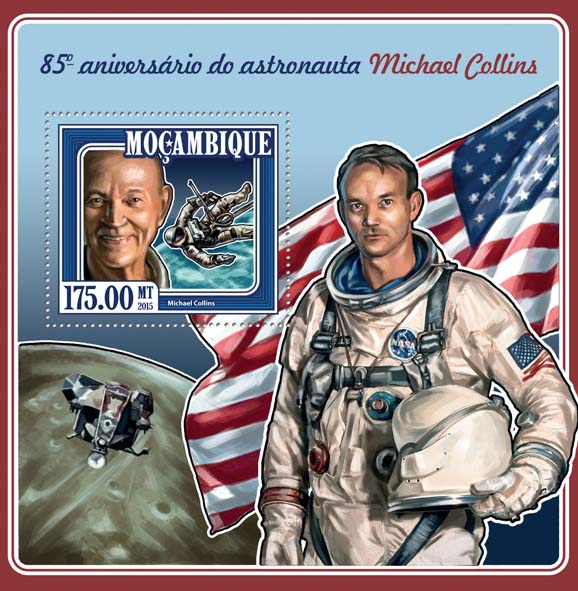 Michael Collins  - Issue of Mozambique postage Stamps