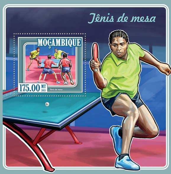 Table tennis - Issue of Mozambique postage Stamps