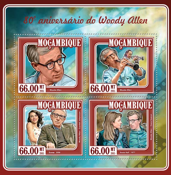 Woody Allen - Issue of Mozambique postage Stamps