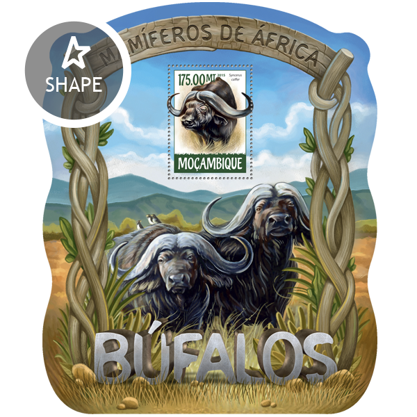 Buffalos - Issue of Mozambique postage Stamps
