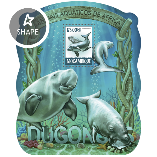 Dugongs - Issue of Mozambique postage Stamps