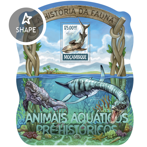 Prehistoric water animals - Issue of Mozambique postage Stamps