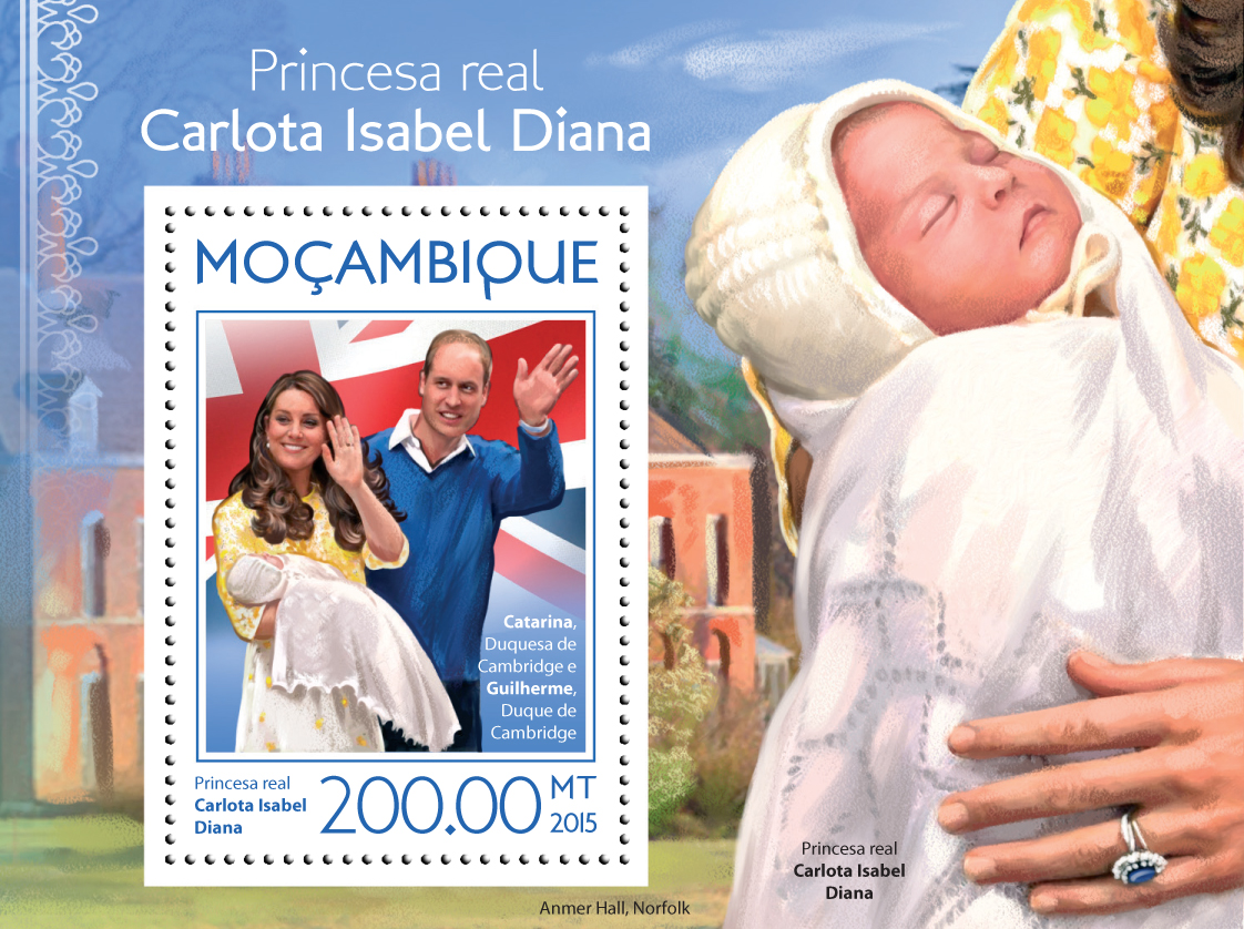 Princess Charlotte - Issue of Mozambique postage Stamps