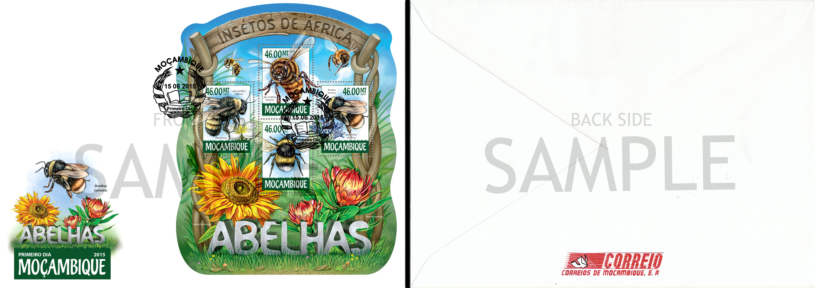 Sample of FDC - Issue of Mozambique postage Stamps