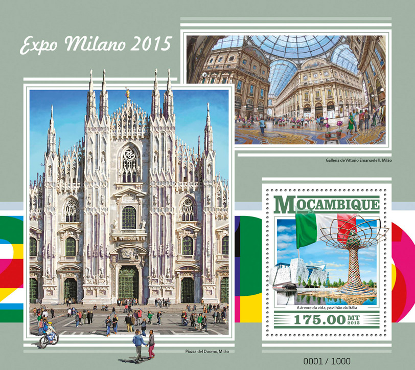 Expo Milano 2015 - Issue of Mozambique postage Stamps