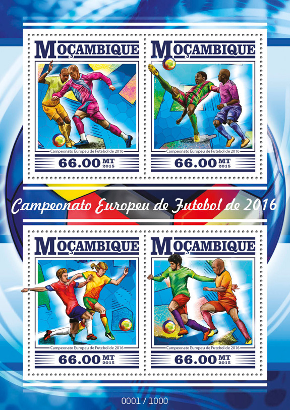 Football - Issue of Mozambique postage Stamps