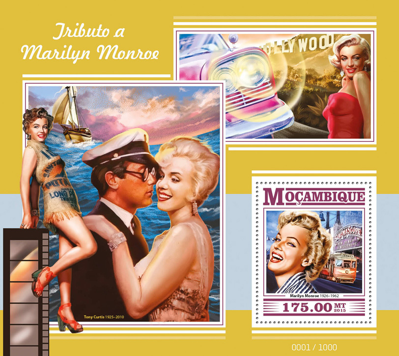 Marilyn Monroe - Issue of Mozambique postage Stamps