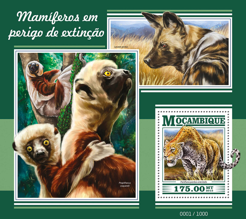 Mammals - Issue of Mozambique postage Stamps