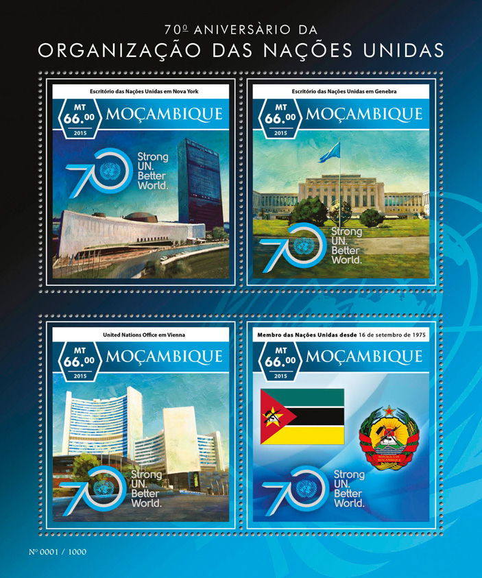 United Nations - Issue of Mozambique postage Stamps