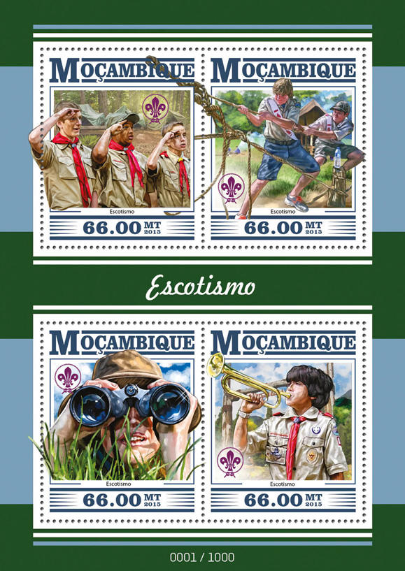 Scouts - Issue of Mozambique postage Stamps