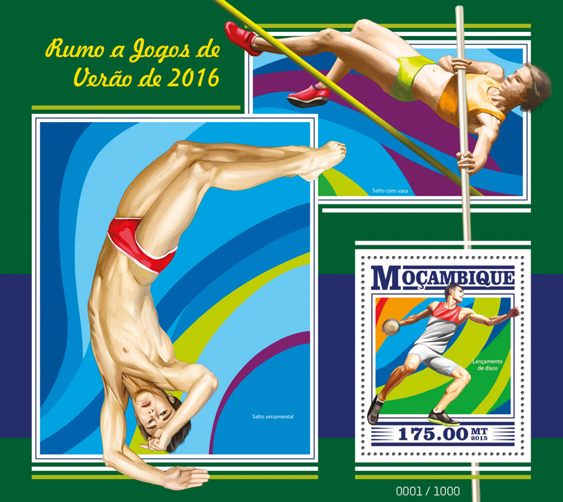 Summer Games 2016 - Issue of Mozambique postage Stamps