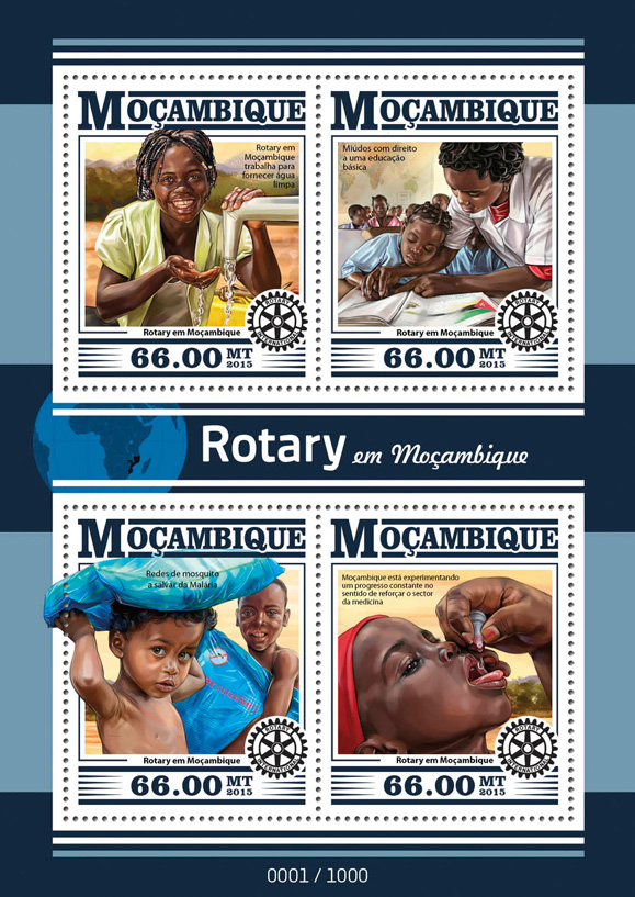 Rotary - Issue of Mozambique postage Stamps