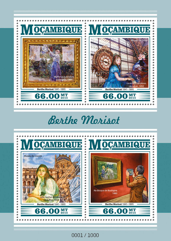 Berthe Morisot - Issue of Mozambique postage Stamps
