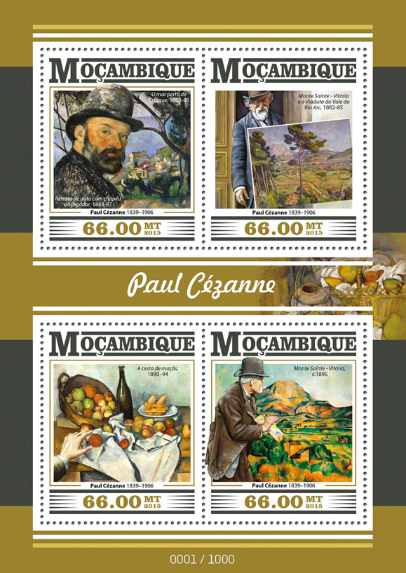 Paul Cezanne - Issue of Mozambique postage Stamps