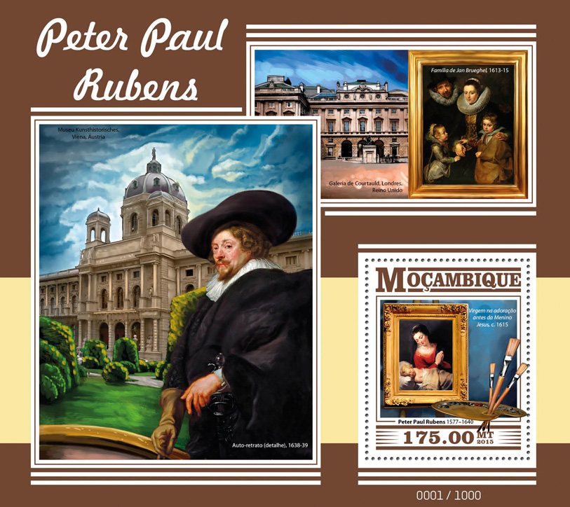 Peter Paul Rubens - Issue of Mozambique postage Stamps