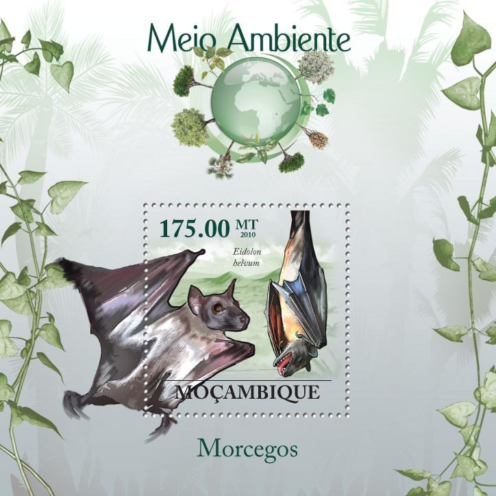 Bats ( Eidolon helvum ) - Issue of Mozambique postage Stamps