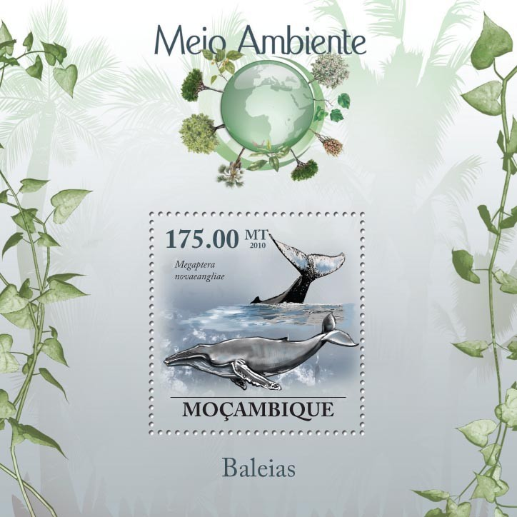 Whales ( Megaptera novaeangliae ) - Issue of Mozambique postage Stamps