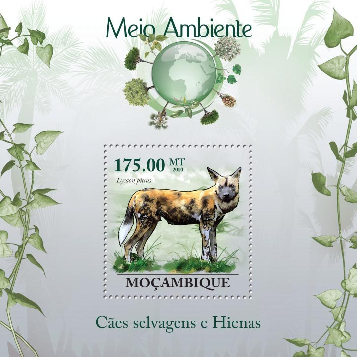 Wild Dogs & Hyenas, ( Lycaon pictus ) - Issue of Mozambique postage Stamps