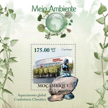 Global Warming Climate Conference - Copenhagen 2010. - Issue of Mozambique postage Stamps