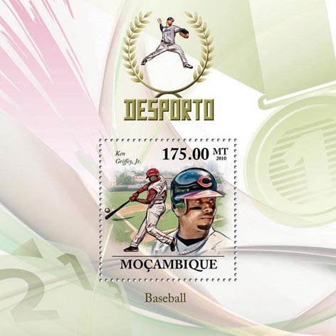 Baseball, ( Ken Griffey, Jr. ) - Issue of Mozambique postage Stamps
