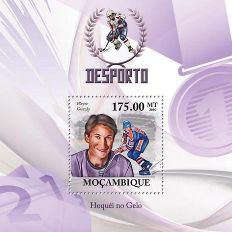 Ice Hockey, (Wayne Gretzky). - Issue of Mozambique postage Stamps