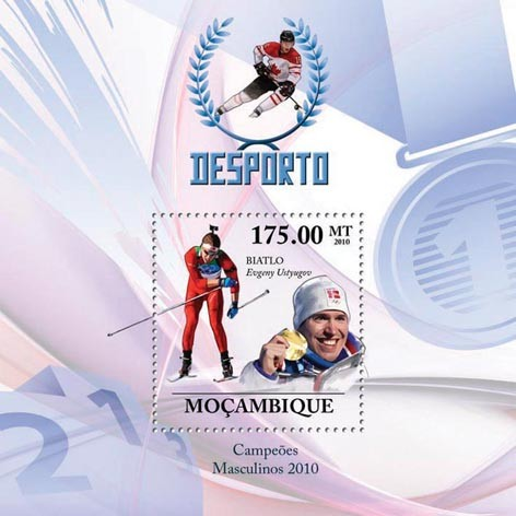 Winter Games (Men II),  (Evgeny Ustyugov - Biathlon) - Issue of Mozambique postage Stamps