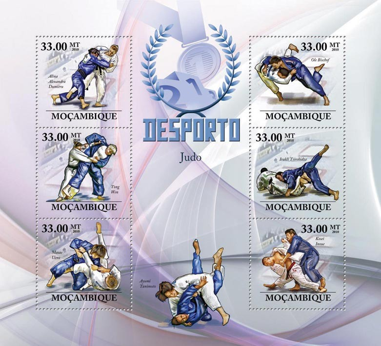 Judo, ( A.A. Dumitru ... Kosei Inoue ). - Issue of Mozambique postage Stamps