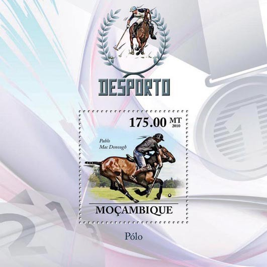 Polo, ( Pablo Mac Donough ). - Issue of Mozambique postage Stamps