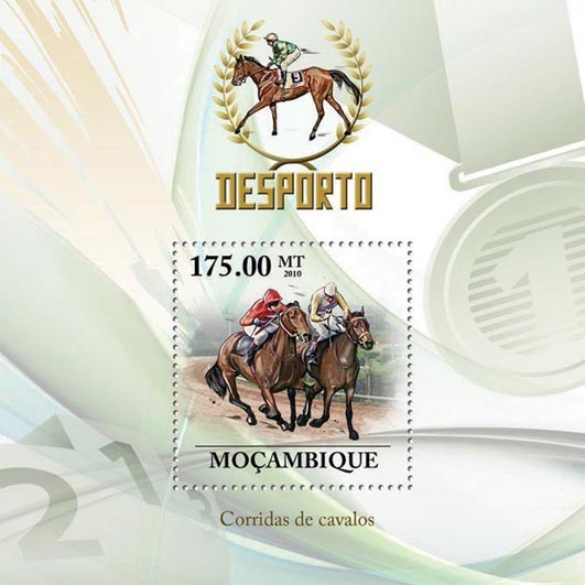 Horse Racing - Issue of Mozambique postage Stamps