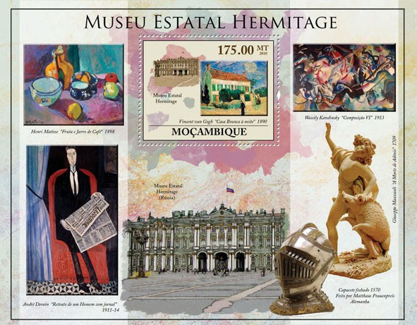 State Hermitage Museum (Paintings, Statues). - Issue of Mozambique postage Stamps
