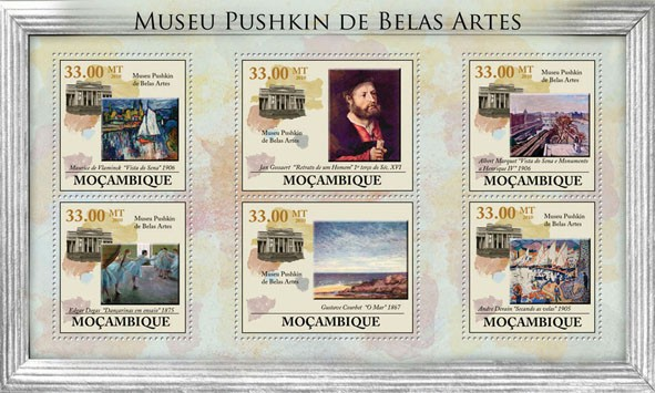 Pushkin Museum of Fine Arts (Paintings, Statues). - Issue of Mozambique postage Stamps