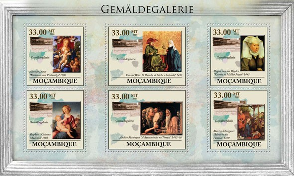 Picture Gallery of Berlin - Issue of Mozambique postage Stamps