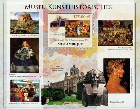 Museum of Art History of Vienna (Paintings). - Issue of Mozambique postage Stamps