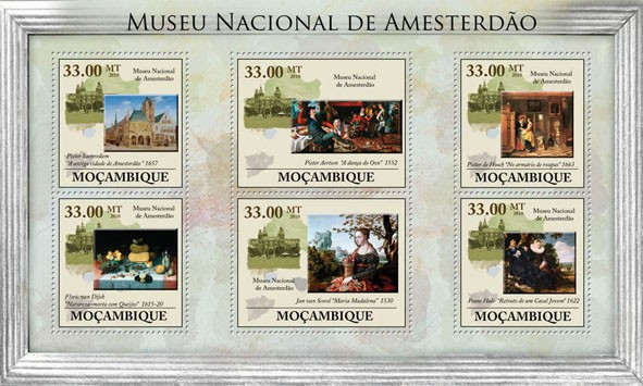 National Museum of Amsterdam (Paintings). - Issue of Mozambique postage Stamps
