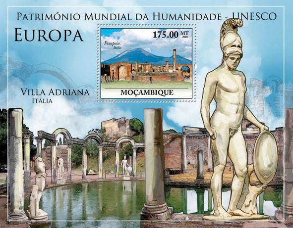 World Heritage Site   UNESCO Europe I (Pompeii.  Italia). - Issue of Mozambique postage Stamps