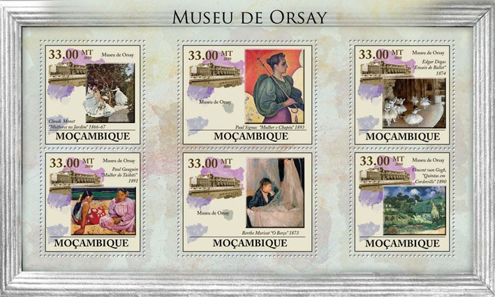 Orsay Museum, (Paintings). - Issue of Mozambique postage Stamps